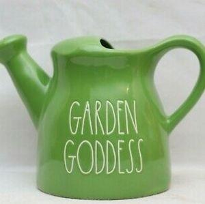 """NEW Rae Dunn """"Garden Goddess"""" Watering Can"""